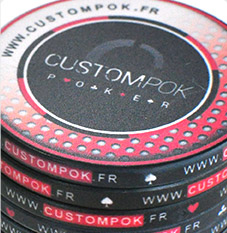 Jeton de poker custompok